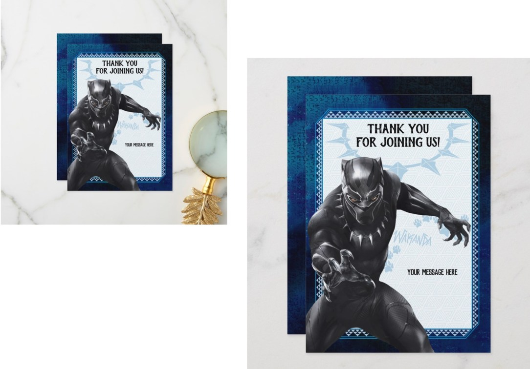 black panther thank you cards