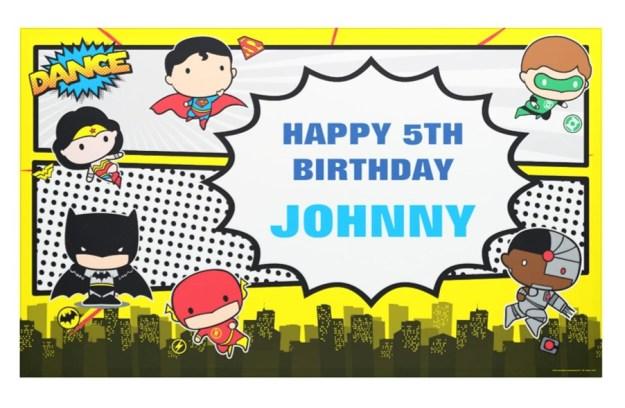 dc comics birthday banner