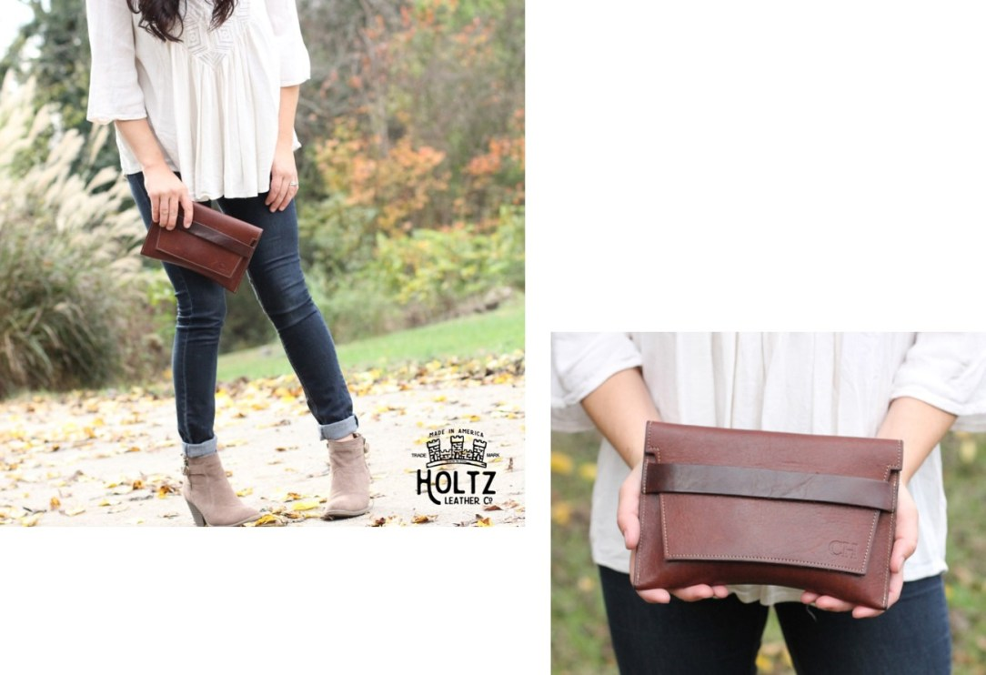 holtz leather clutch