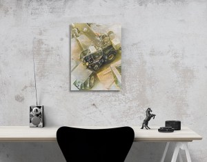 Abstract Art: Excavator by Patricia Griffin