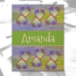 Amanda Wood Wall Decor by Patricia Griffin