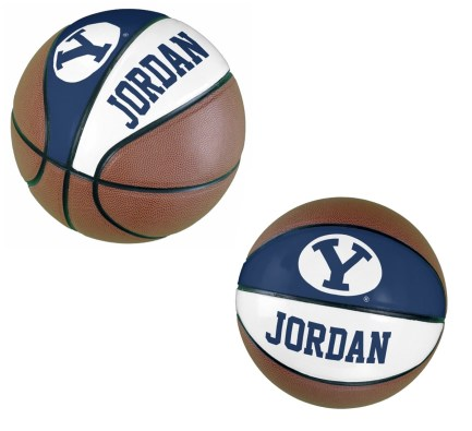 BYU Personalized Basketball