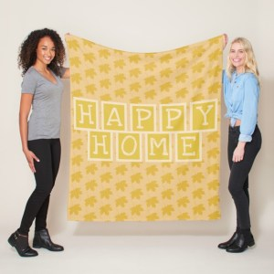 Happy Home Fleece Blanket
