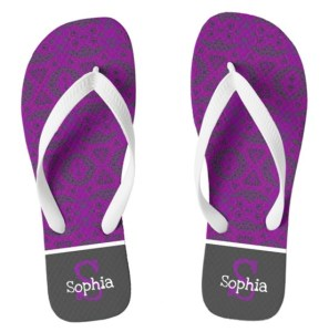 Personalized Flip Flops by Patricia Griffin