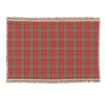 Hallmark Christmas plaid blanket