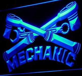 Mechanic neon sign LED