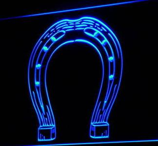 Horseshoe neon sign LED