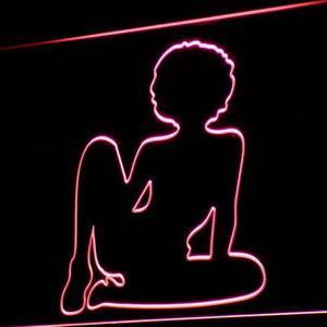 Afro Girl neon light sign