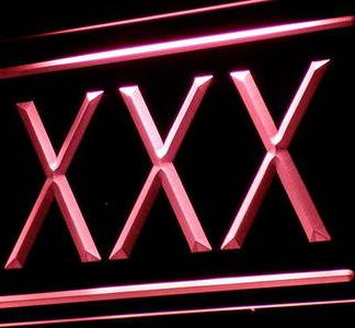 XXX neon sign LED