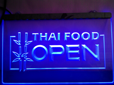 Thai Food Open neon sign LED