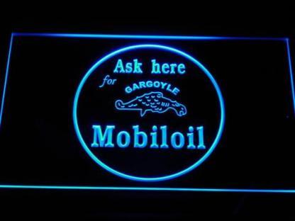 Mobiloil neon sign LED