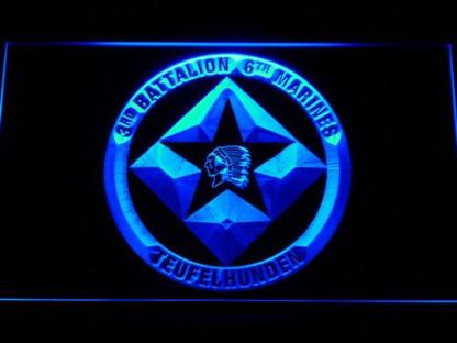 US Marine Corps 3rd Battalion 6th Marines neon sign LED