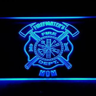 Fire Department Firefighter's Mom neon sign LED