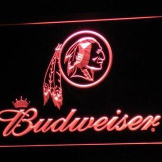 Washington Redskins Budweiser neon sign LED