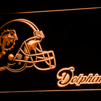 Miami Dolphins Helmet neon sign LED