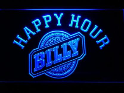 Billy Beer Happy Hour neon sign LED