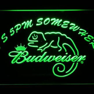 Budweiser Lizard It's 5pm Somewhere neon sign LED
