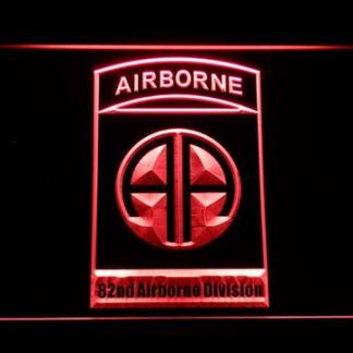 US Army 82nd Airborne Division neon sign LED