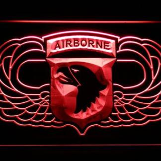 US Army 101st Airborne Division Wings neon sign LED
