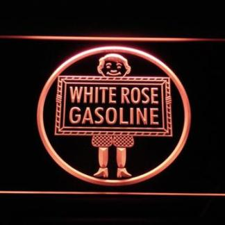 White Rose Gasoline - En-Ar-Co Boy neon sign LED