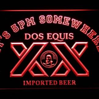 Dos Equis It's 5pm Somewhere neon sign LED
