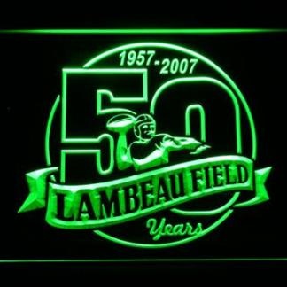 Green Bay Packers Lambeau Field 50th Anniversary - Legacy Edition neon sign LED