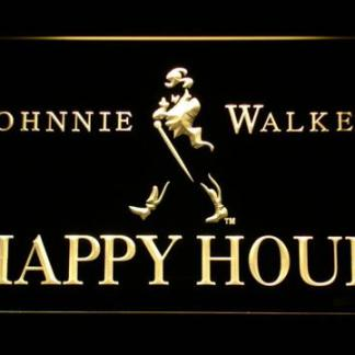 Johnnie Walker Happy Hour neon sign LED