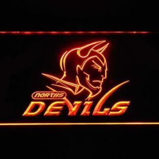 Norths Devils neon sign LED
