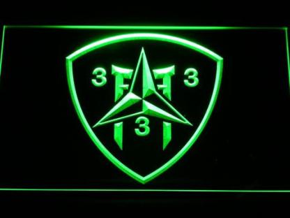 US Marine Corps 3rd Battalion 3rd Marines neon sign LED