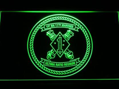 US Marine Corps 1st Battalion 11th Marines neon sign LED