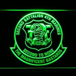 US Marine Corps 2nd Battalion 4th Marines neon sign LED