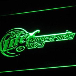 Miller Lite - Miller Time Live neon sign LED