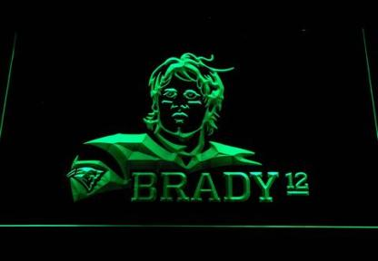 New England Patriots Tom Brady neon sign LED