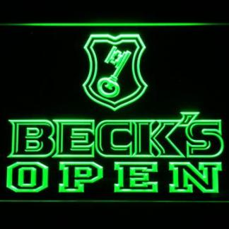 Beck's Open neon sign LED