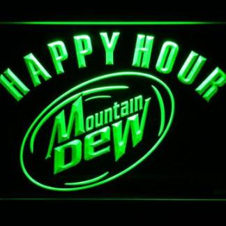 Mountain Dew Happy Hour neon sign LED