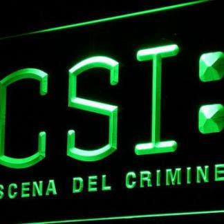 CSI Scena Del Crimine neon sign LED