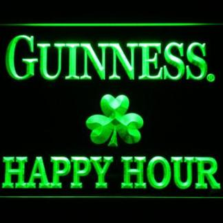 Guinness Shamrock Happy Hour neon sign LED