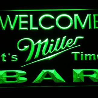 Miller It's Miller Time Welcome Bar neon sign LED