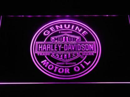 Harley Davidson Genuine Motor Oil neon sign LED
