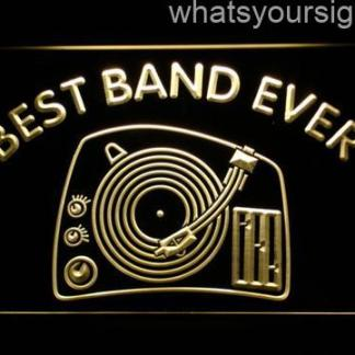 DJ Turntable Best Band Ever neon sign LED