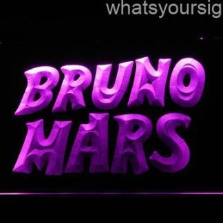 Bruno Mars neon sign LED