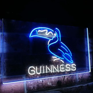 Guinness Toucan Stout Draught Beer Bar Decor Dual Color Led Neon Sign neon sign LED