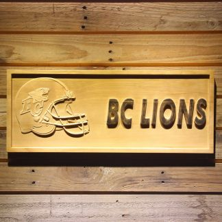 British Columbia Lions Helmet Wood Sign - Legacy Edition neon sign LED