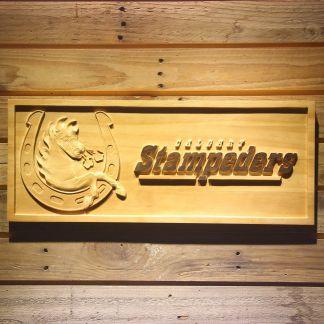 Calgary Stampeders Horseshoe Logo Wood Sign neon sign LED