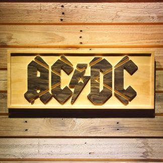 AC/DC Wood Sign neon sign LED