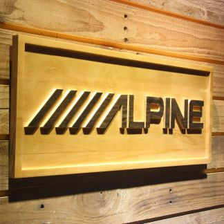 Alpine Wood Sign neon sign LED