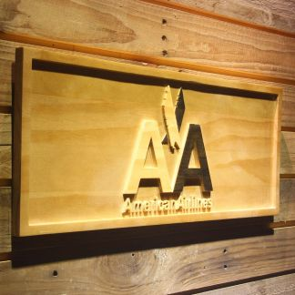 American Airlines Wood Sign neon sign LED