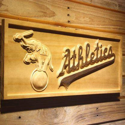 Oakland Athletics Elephant Logo Wood Sign neon sign LED