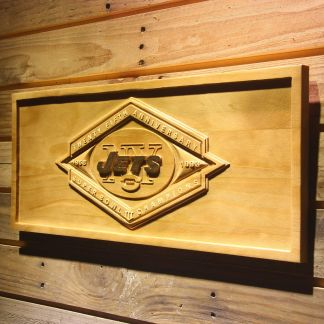New York Jets Super Bowl III Championship 25th Anniversary Wood Sign - Legacy Edition neon sign LED