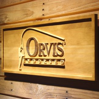 Orvis Endorsed Wood Sign neon sign LED